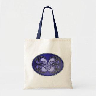Bolso azul del fractal 200706070030 de la mariposa bolsa de mano