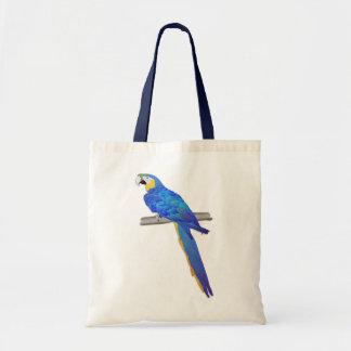 Bolso azul del Macaw Bolsas Lienzo
