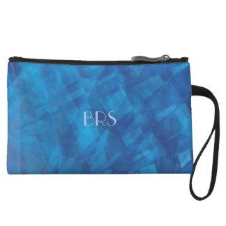 Bolso azul del monograma de las profundidades