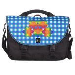 Bolso azul del ordenador portátil de la guinga del bolsas para portatil