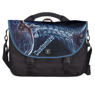 Bolso azul del ordenador portátil del viajero de l bolsas de portátil