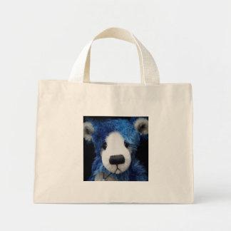 Bolso azul del oso bolsa lienzo