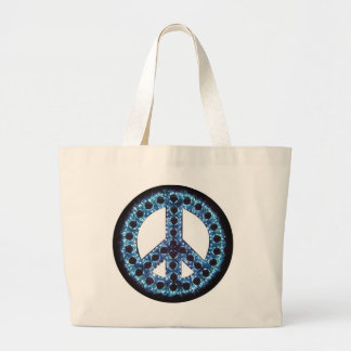 bolso azul del signo de la paz bolsa