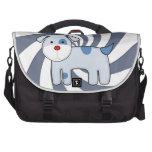 Bolso azul del viajero del perrito del remiendo bolsas para portatil
