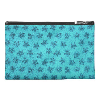 Bolso azul floral retro del accesorio del viaje de