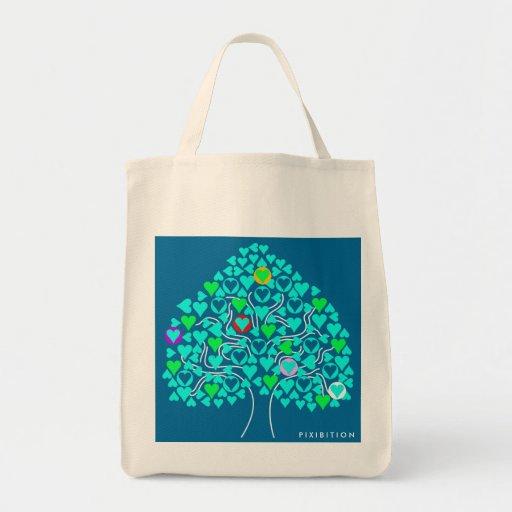 Bolso (azul marino) del árbol del corazón bolsas de mano