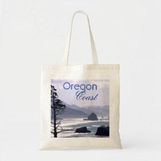 Bolso azul nebuloso de la costa de Oregon de la ro Bolsa Tela Barata