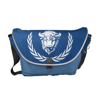 Bolso azul real de la casa del búfalo del DB Bolsa Messenger