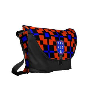 Bolso azul rojo del siete-ciudadano bolsas de mensajería