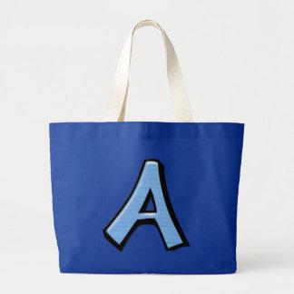 Bolso azul tonto de las letras A Bolsas