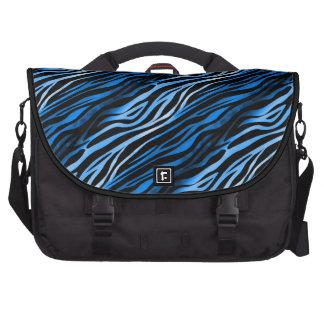 Bolso azul y negro del ordenador portátil del esta bolsas de ordenador