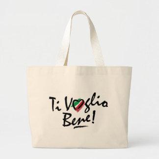 ¡Bolso - bene italiano del voglio del Ti! Bolsa Tela Grande