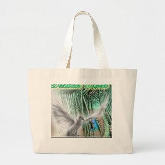 Bolso blanco-con alas de la paloma de Delilah Bolsas De Mano