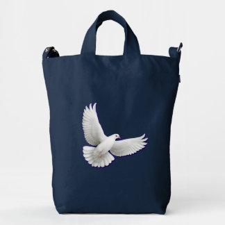 Bolso blanco del pato de BAGGU de la paloma de la Bolsa De Lona Duck