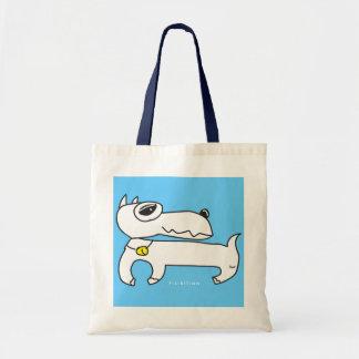 Bolso blanco del perro del Pinscher miniatura Bolsa Tela Barata