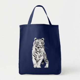 Bolso blanco majestuoso del tigre bolsa tela para la compra