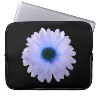 Bolso blanco y azul del ordenador portátil de la funda portátil