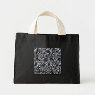 Bolso blanco y negro animal de la impresión bolsa tela pequeña