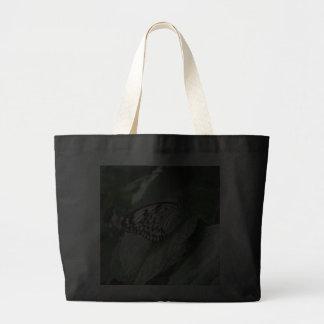 Bolso blanco y negro de la mariposa bolsa