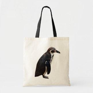 Bolso blanco y negro lindo del pingüino de bolsas