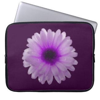 Bolso blanco y púrpura del ordenador portátil de manga portátil