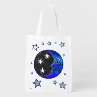 Bolso bohemio celestial de los tenderos del arte bolsas de la compra