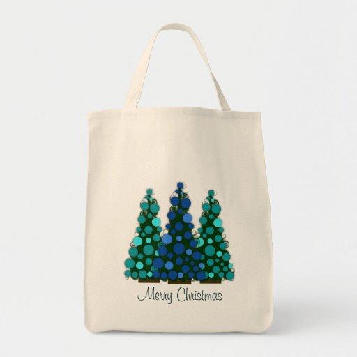 Bolso bonito del árbol de navidad bolsa tela para la compra