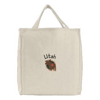 Bolso bordado alces de Utah Bolsas De Mano Bordadas