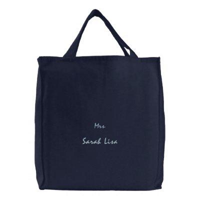 Bolso bordado bolsa de lienzo