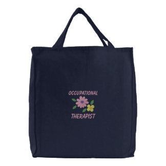 Bolso bordado del terapeuta profesional bolsas de lienzo