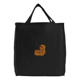 Bolso bordado hombre de pan de jengibre bolsa bordada