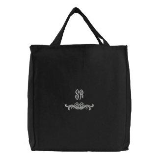 Bolso bordado iniciales elegantes del monograma bolsa