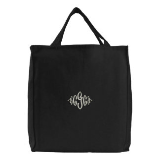 Bolso bordado monograma bolsa de mano bordada