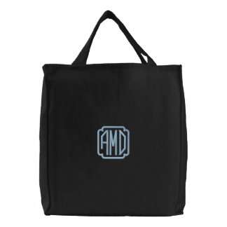 Bolso bordado monograma adaptable de las iniciales bolsa bordada