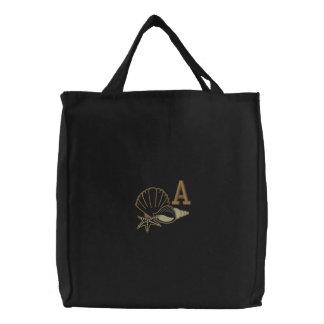 Bolso bordado monograma de la playa bolsas