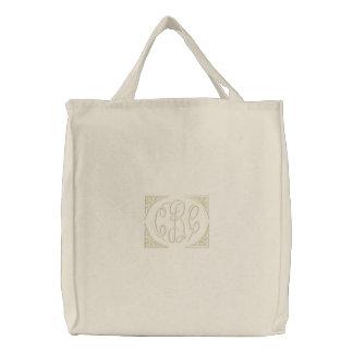 Bolso bordado monograma personalizado bolsa de lienzo