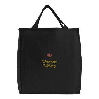 Bolso bordado negro del boda de diciembre bolsa