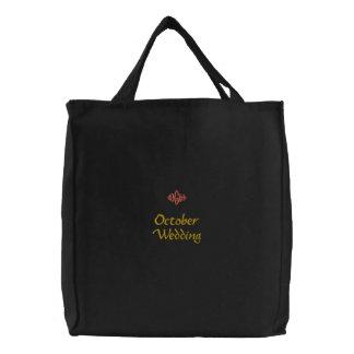 Bolso bordado negro del boda de octubre bolsas