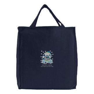 Bolso bordado oso adaptable de la nieve del navida bolsa de mano bordada