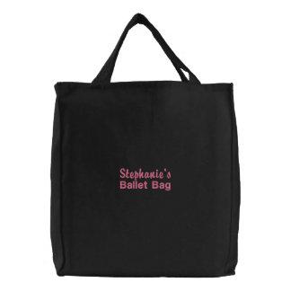 Bolso bordado personalizado del ballet bolsas bordadas
