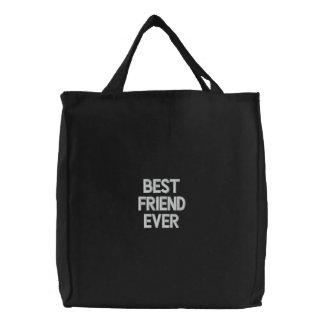 Bolso bordado personalizado, mejor amigo nunca, bolsa de mano bordada