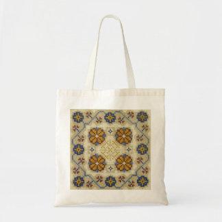 Bolso bordado puntada cruzada falsa bolsa