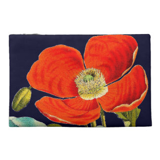 Bolso botánico floral de las flores de la amapola