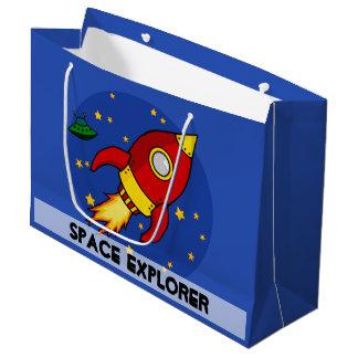 Bolso brillante grande rojo del regalo de Rocket Bolsa De Regalo Grande