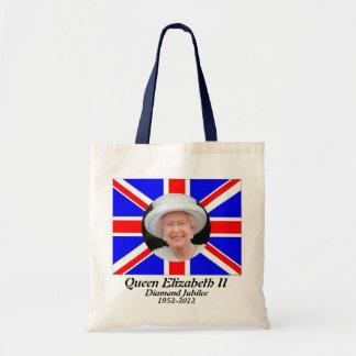 Bolso británico de la bandera del jubileo del retr bolsa lienzo