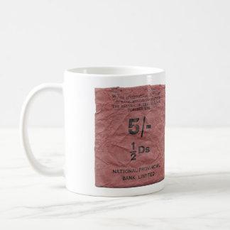 bolso BRITÁNICO de la moneda del vintage del banco Tazas De Café