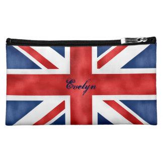 Bolso británico del cosmético de la bandera
