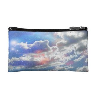 Bolso celestial del cosmético de las nubes