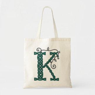 Bolso céltico de la letra K Bolsas