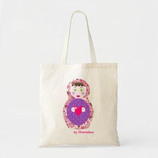 bolso cesta muñeca rusa matriochka liberty rosado bolsa